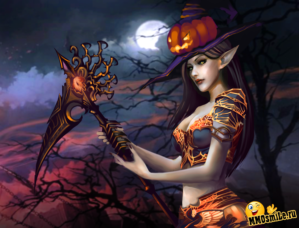 Dark elf female helloween